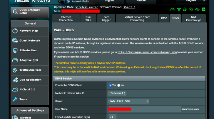 ASUS behind multiple-NAT how to setting DDNS and open VPN
