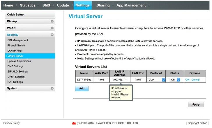 Question regards to Draytek vigor 2860ac vpn setup connected