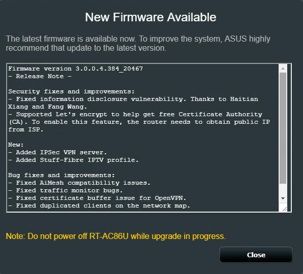 RT-AC68U new firmware 3 0 0 4 384_20624-g14d2f02 | SmallNetBuilder