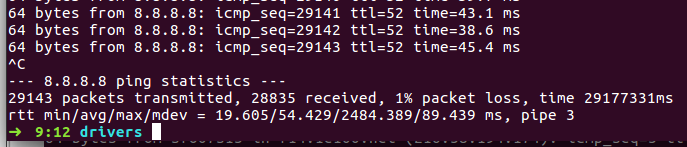 Router introduces ~1% packet loss in sustained overnight