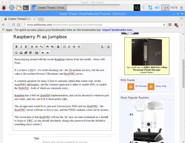 Raspberry Pi as Jumpbox | SmallNetBuilder Forums