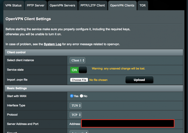 Asus Router as OpenVPN CLIENT (using Merlin 380 67
