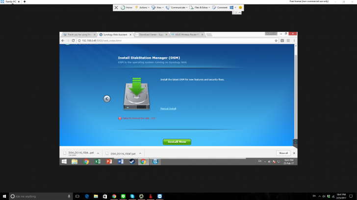 Synology DS116, failed to format disk | SmallNetBuilder Forums
