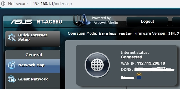 RT-AC86U intermittently but constantly dropping Internet