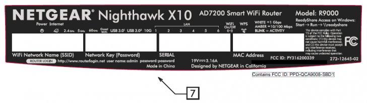 Netgear Nighthawk X10 AD7200 Smart WiFi Router (R9000